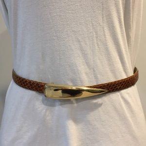 Genuine snake skin modernist belt